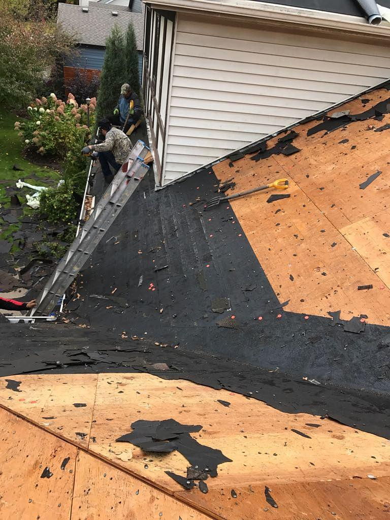 Mendota Heights Hail Damage During Old Shingle Tear Off