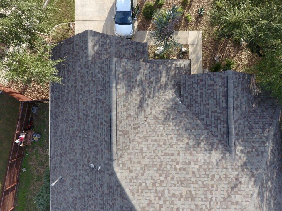 Aerial roof replacement photo