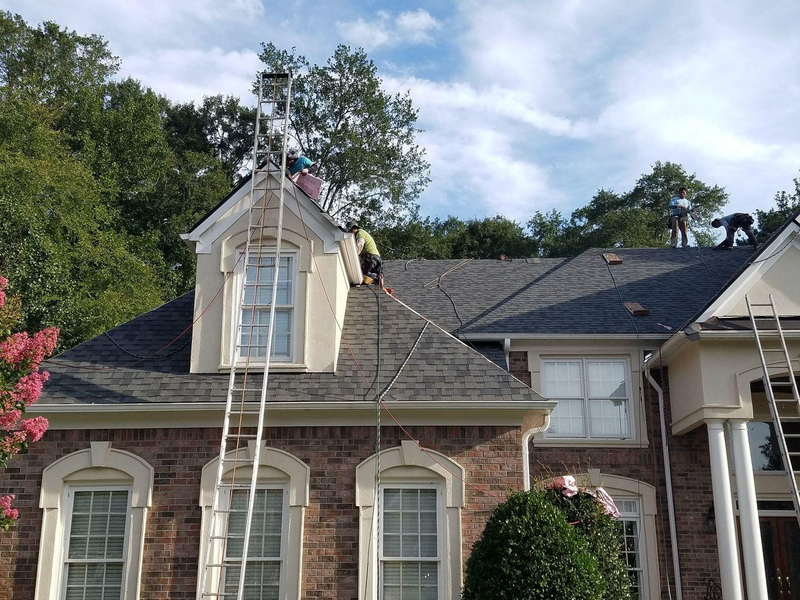 After the Storm Damaged Roof was Replaced