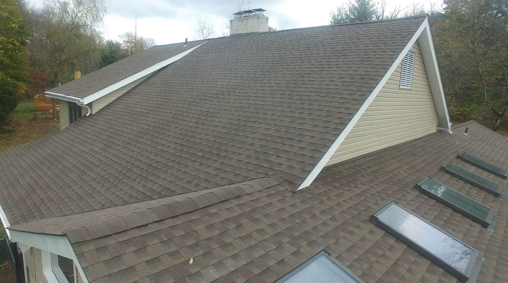 Main Roof, Architectural Shingles, Installed by Pinnacle Exteriors