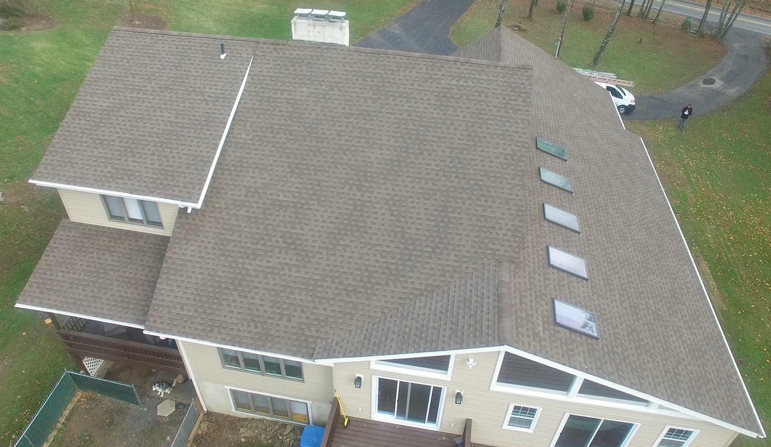 A Backyard Shot of New Shingles From the Sky