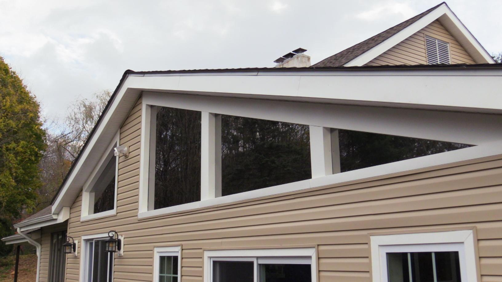Custom Capping on Custom Windows, Under A New Soffit and Fascia
