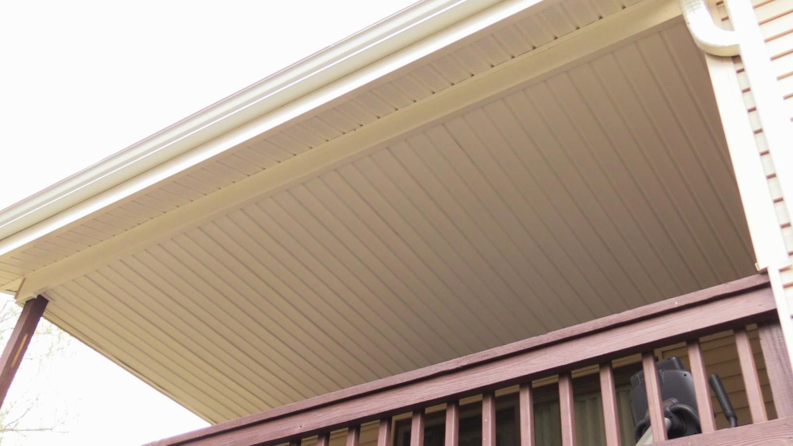 Back Deck Ceiling With Porch Soffiting