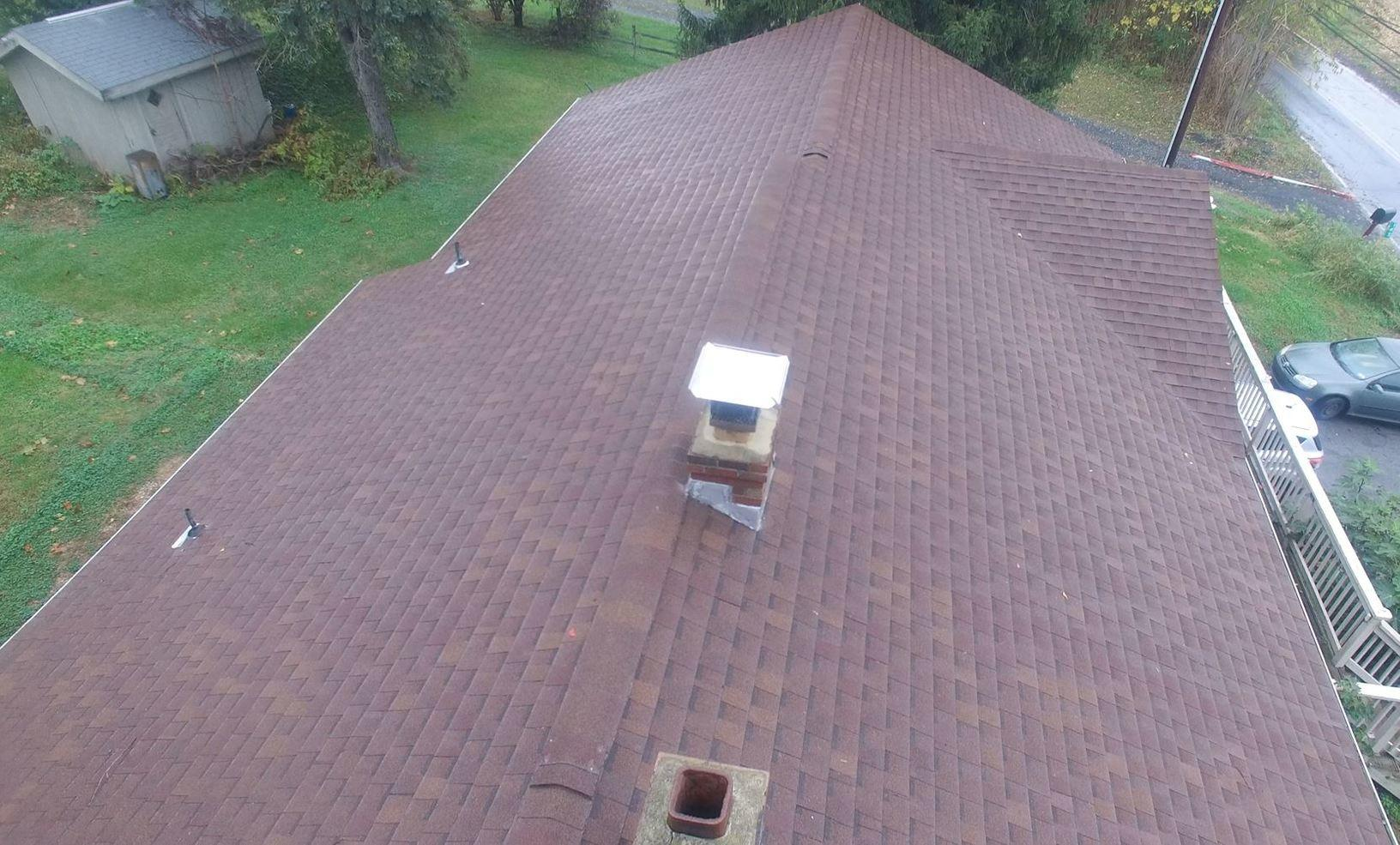 Looking Down the Span of This Premium Roof Installation