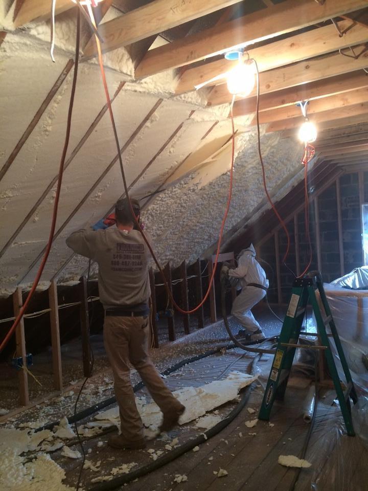 Installing the Spray Foam Insulation