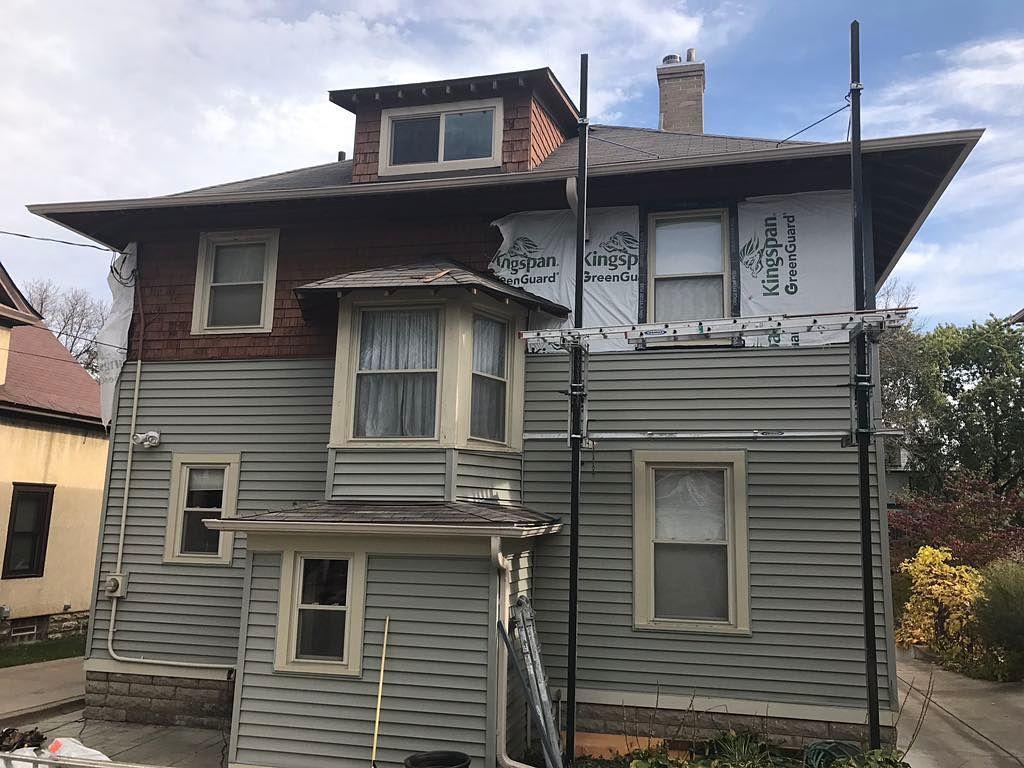 Siding Minneapolis Siding Project Housewrap Install