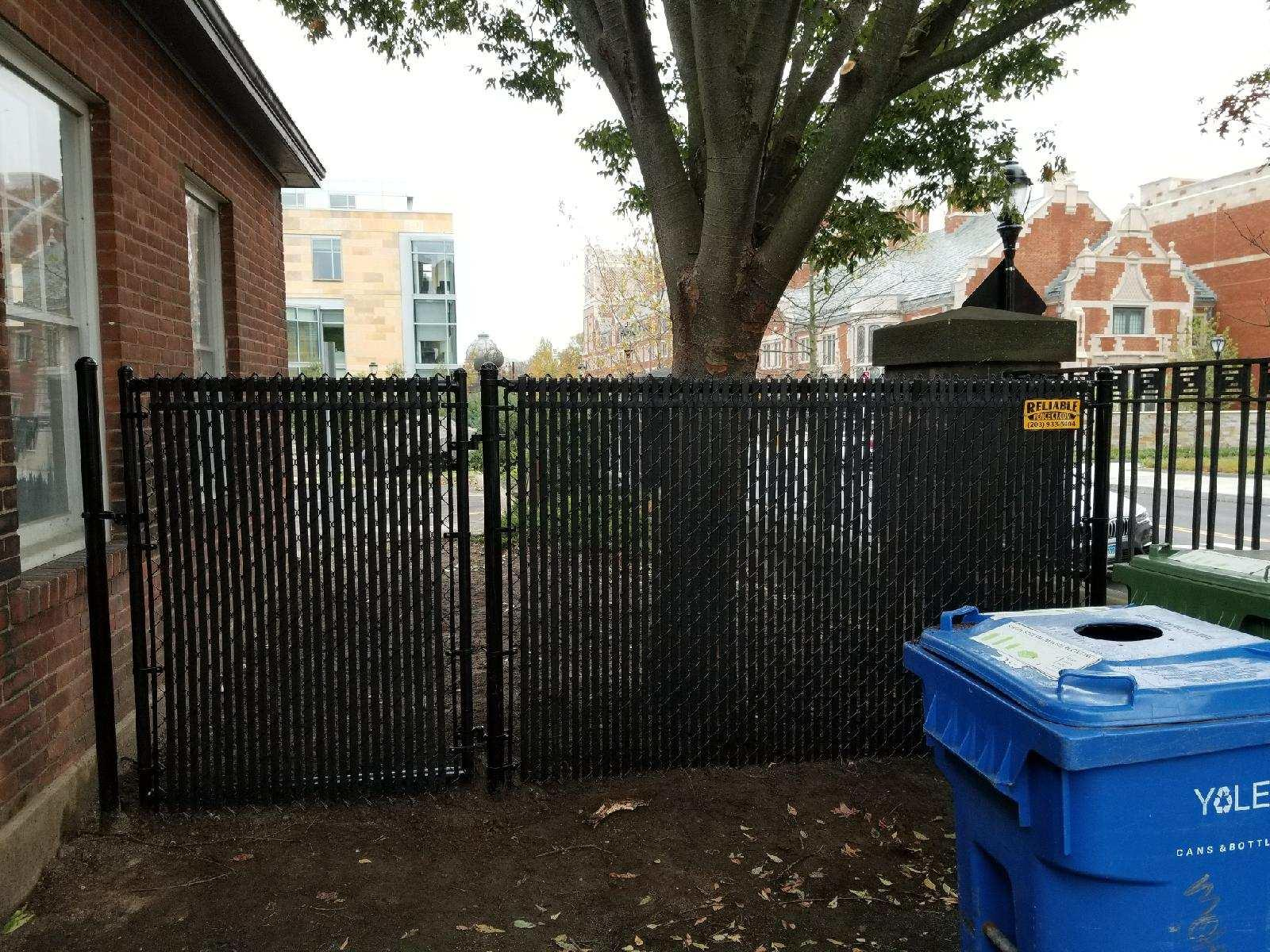 Black Chain Link Fencing Installed in New Haven, CT
