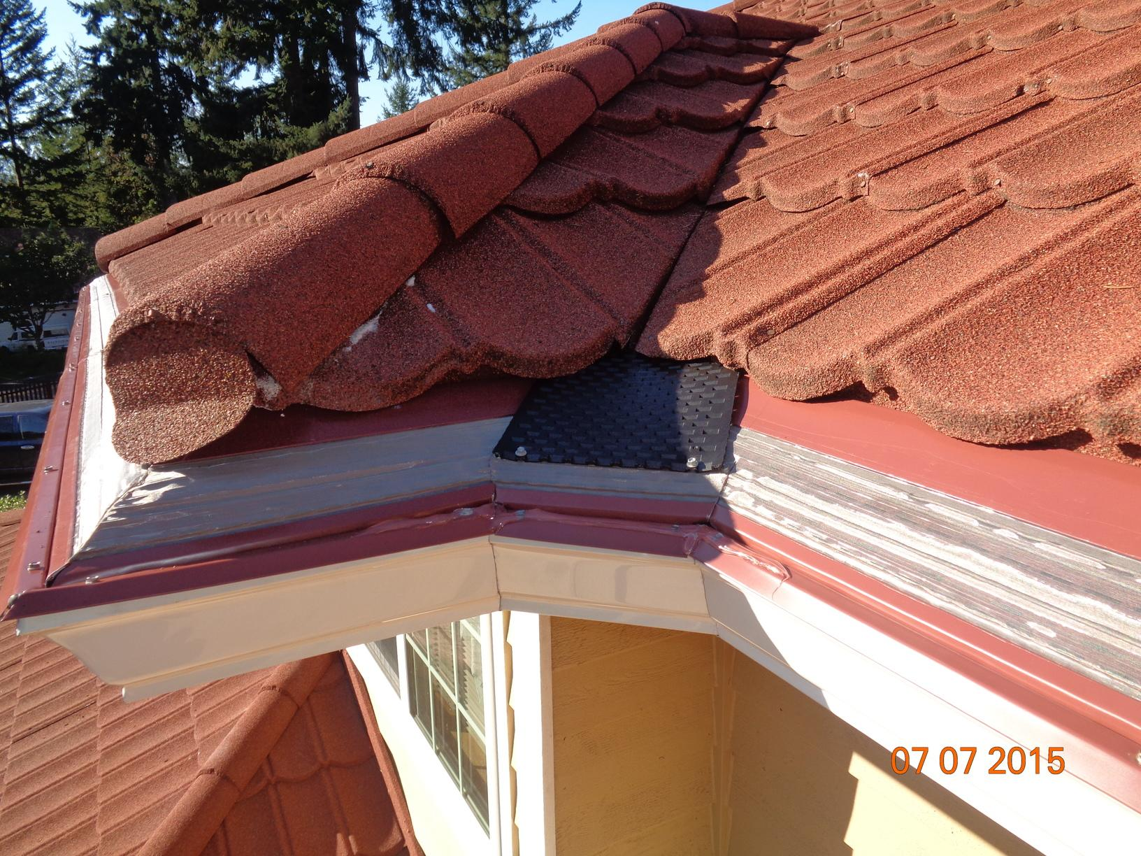 MasterShield Gutter System in Corner of the Silverdale Roof