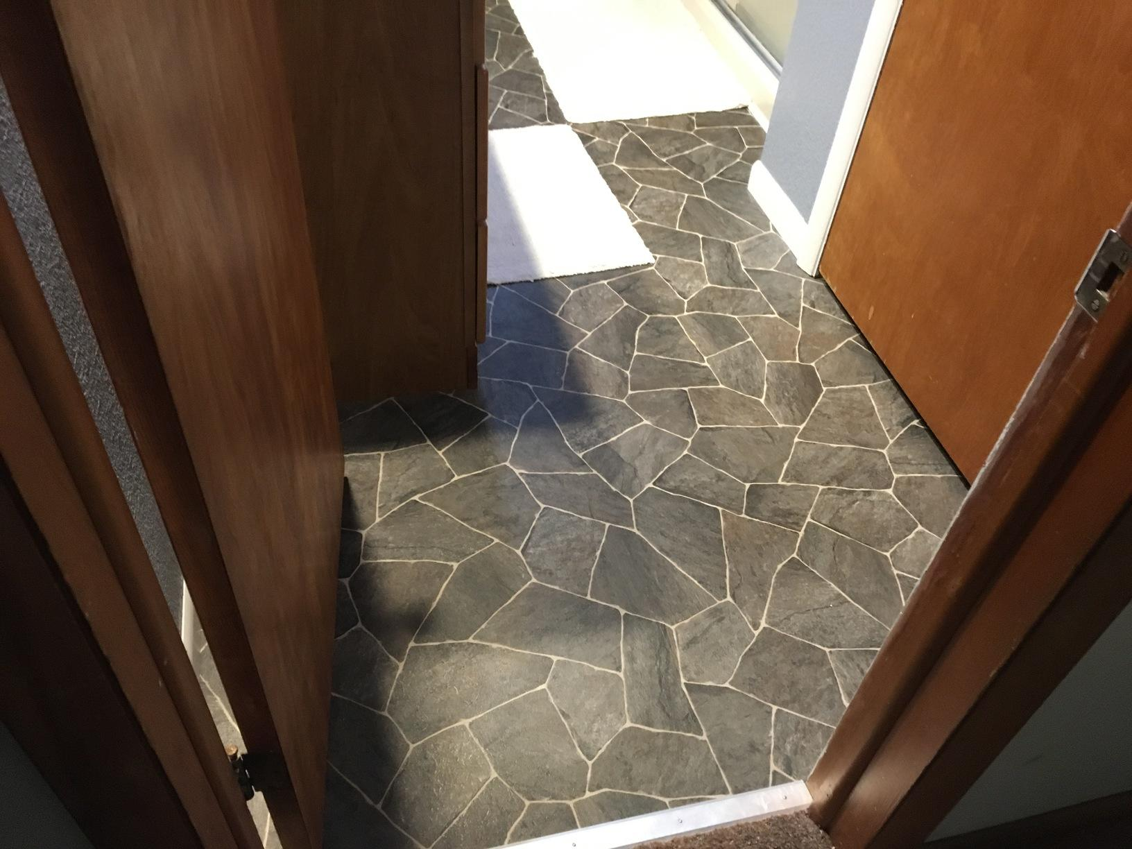 Beautiful new Bathroom flooring Installed