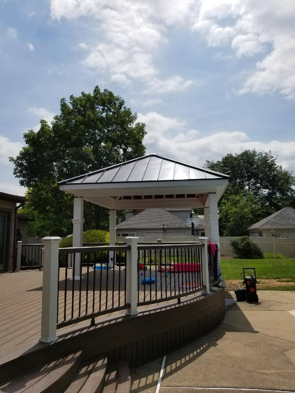 Gazebo Standing Seam Metal Roof Installed in Maple Glen