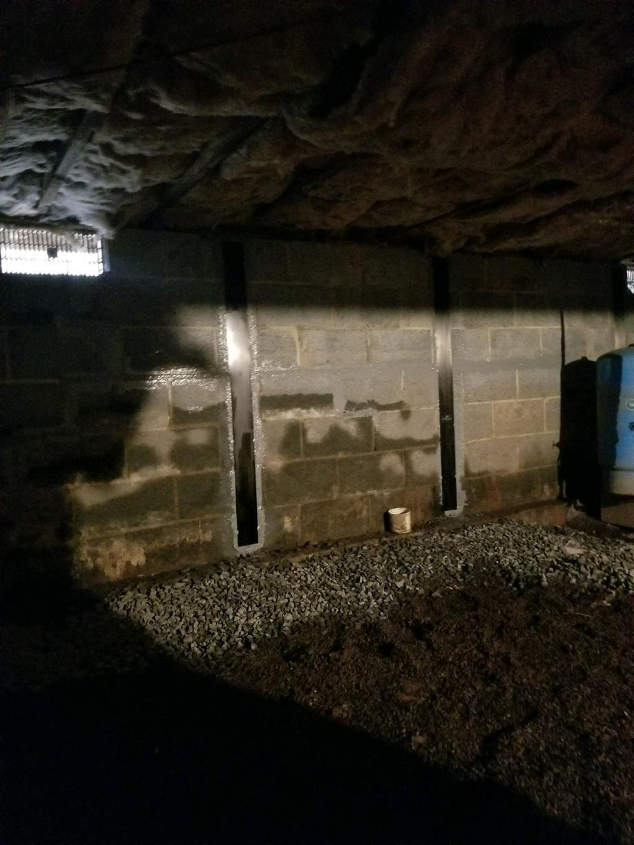 Structural Supports Installed Against the Wall