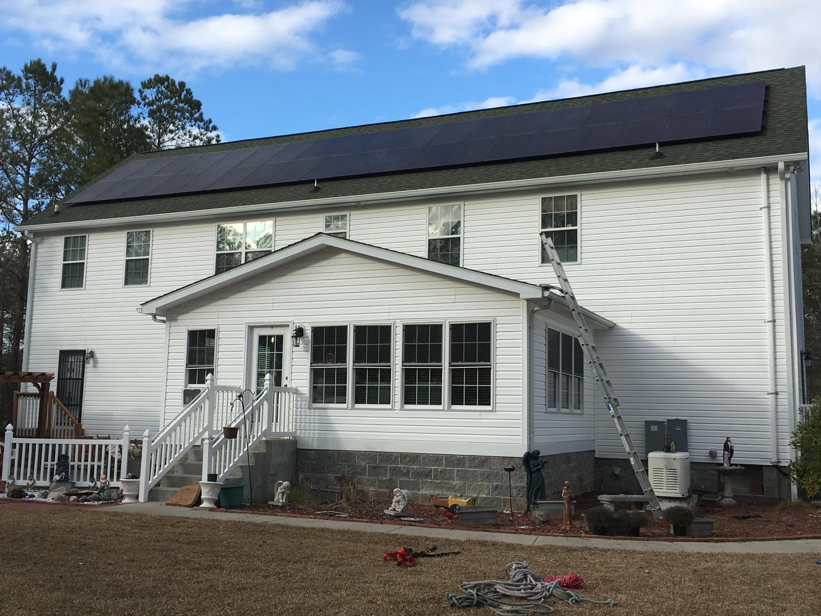 Back Roof Solar PV Installation