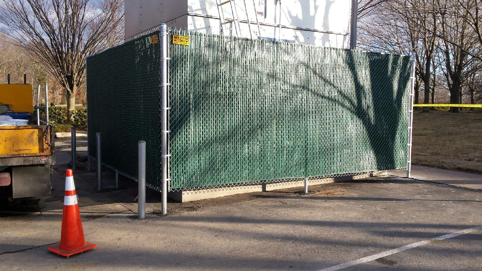 Chain Link Fence Enclosure Installed in CT