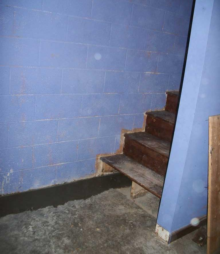 Installed WaterGuard Near Stairs