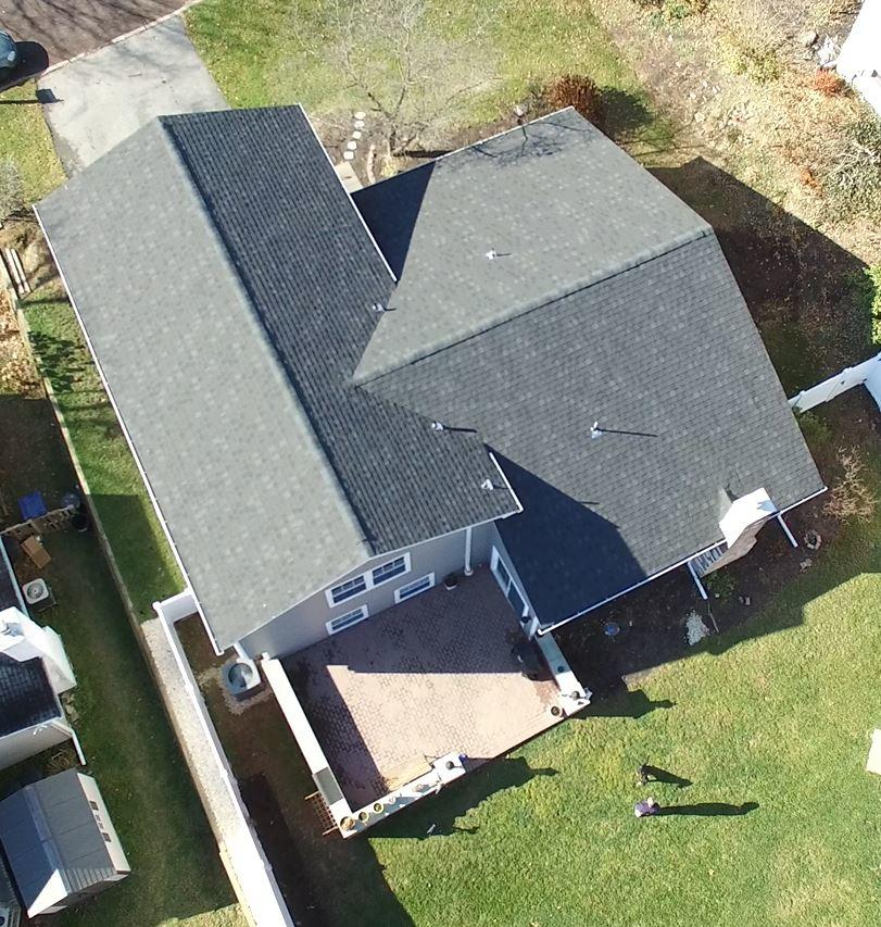 Aerial View of A High Quality Roof Installed in West Allentown by Pinnacle Exteriors