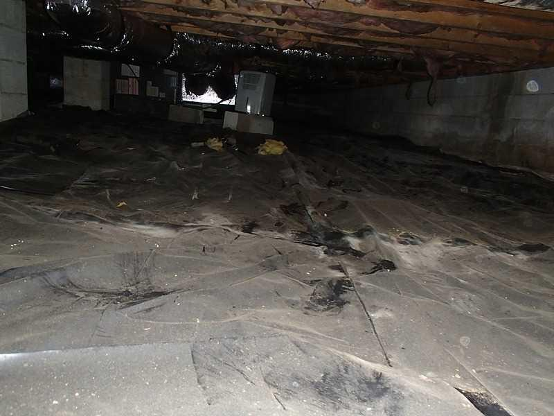 Typical Crawl Space in Rehoboth Beach, DE