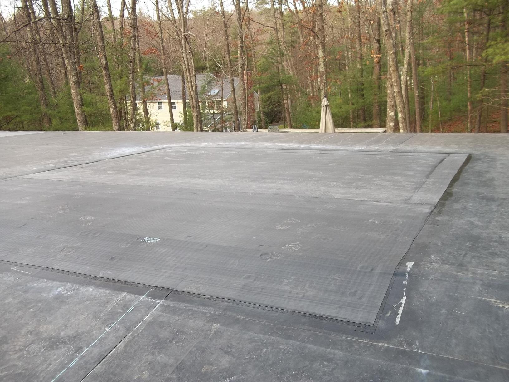 Repaired Rubber Roof