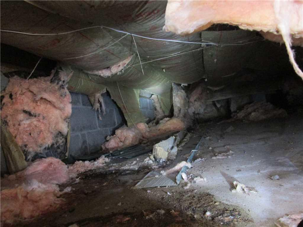 Dirty and Poorly Insulated Crawl Space