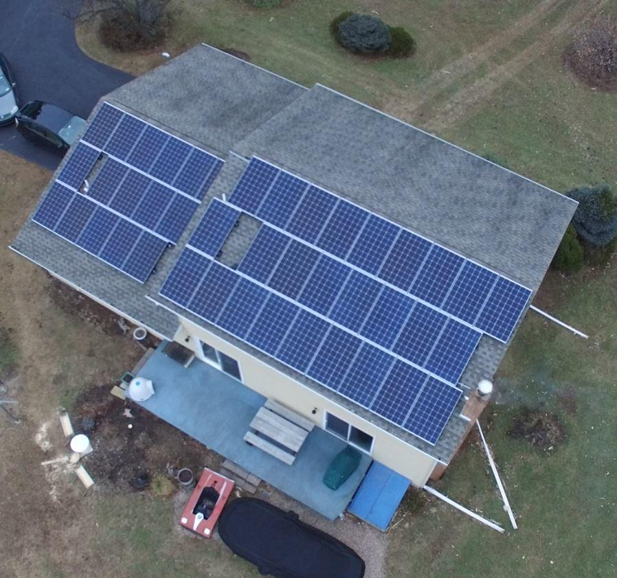 Solar Panels Filling the Roof, Powering the Home