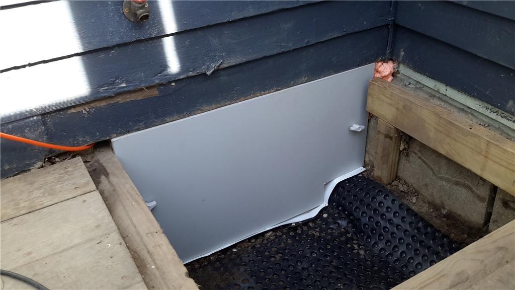 Crawl Space Door Installation