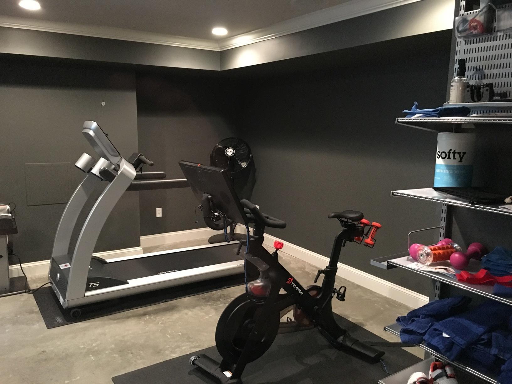 Basement Family Room & Gym Installation