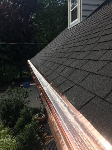 Copper MasterShield Gutter Guards in Mountlake Terrace