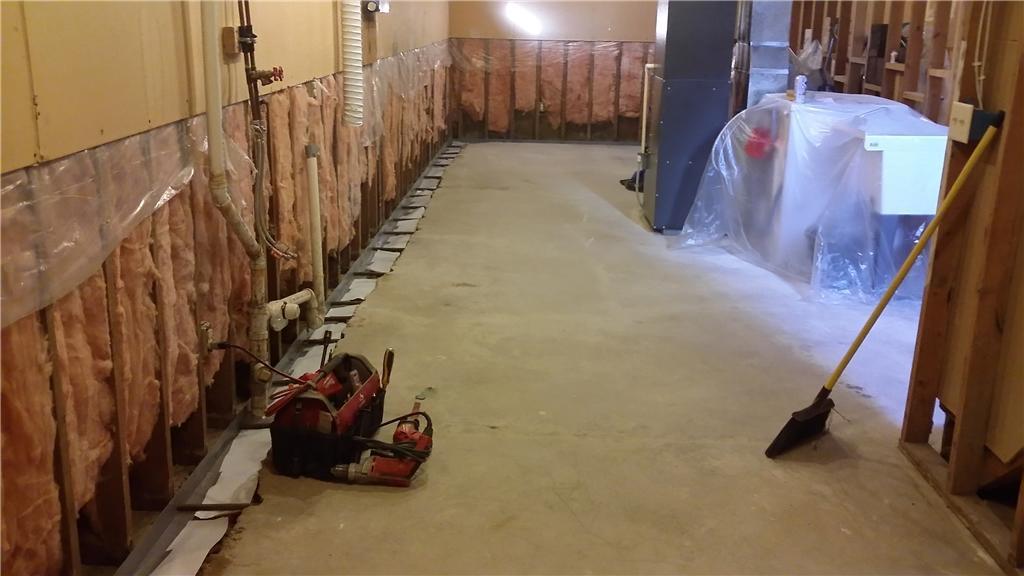 Waterproofing System Installation in progress