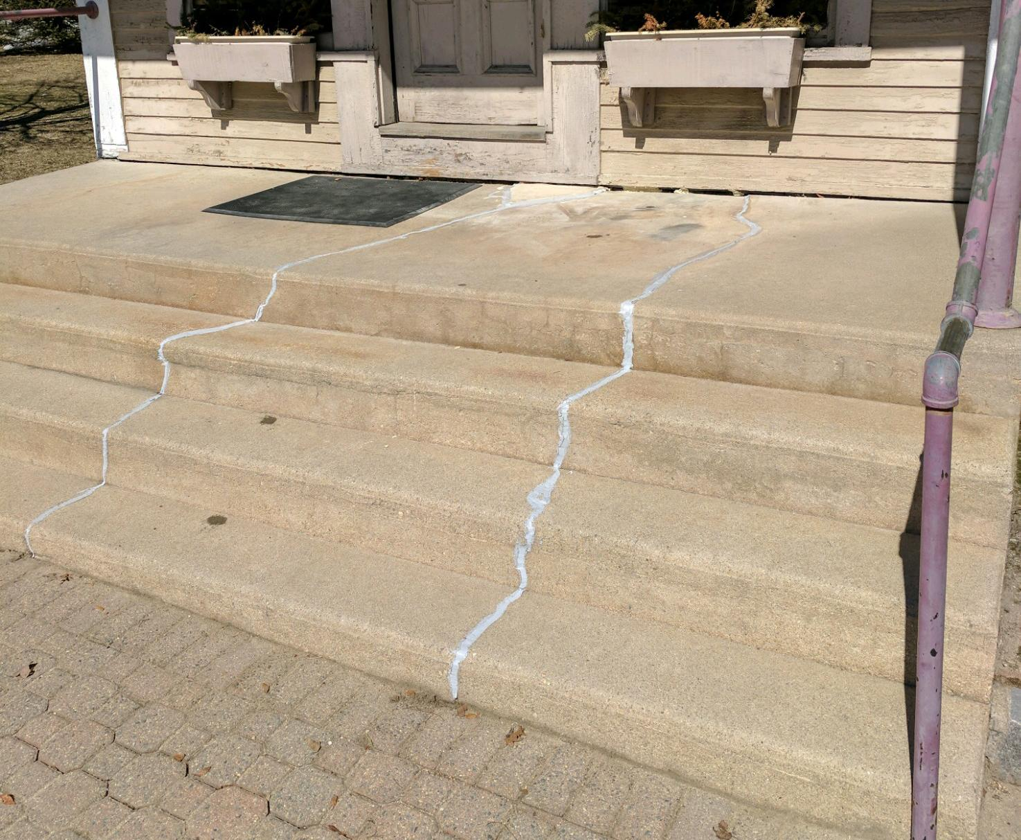 After View - Repairs Made to Settling and Cracked Concrete Steps