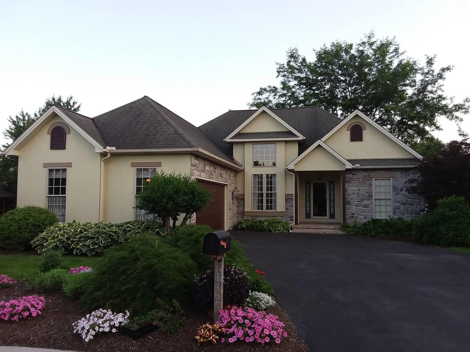 Stucco painted by Rhino Shield in Hummlestown, PA