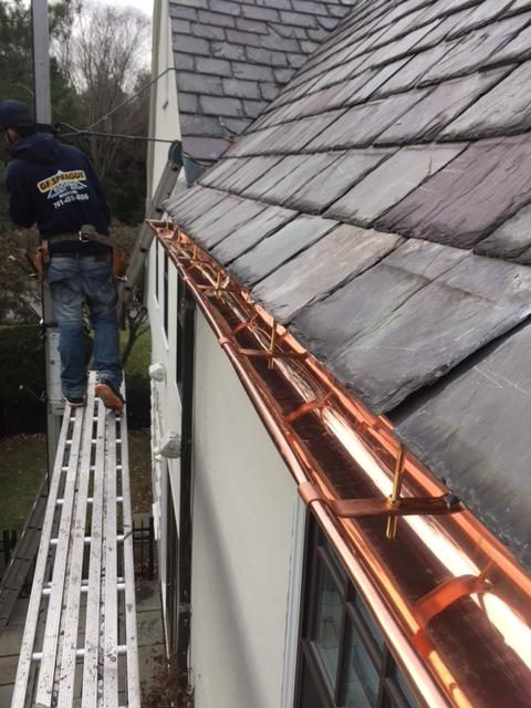 Gutters Amp Downspouts Installing Copper Gutters On A