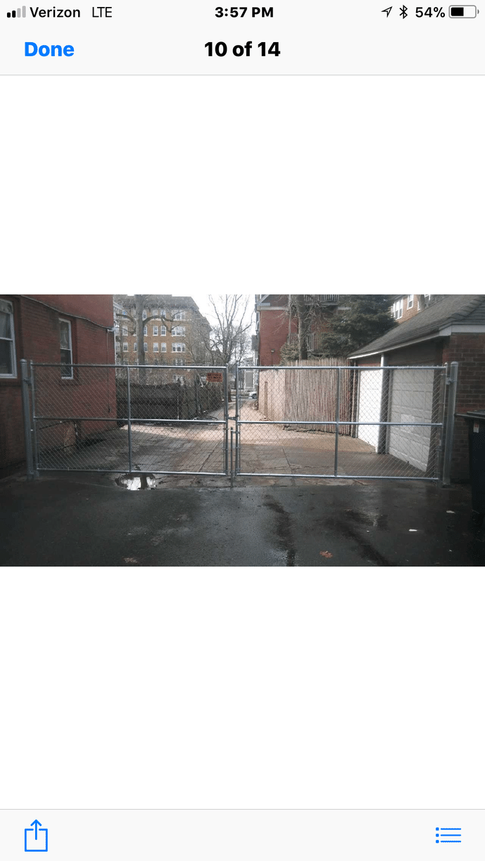Chain Link Double Drive Gate