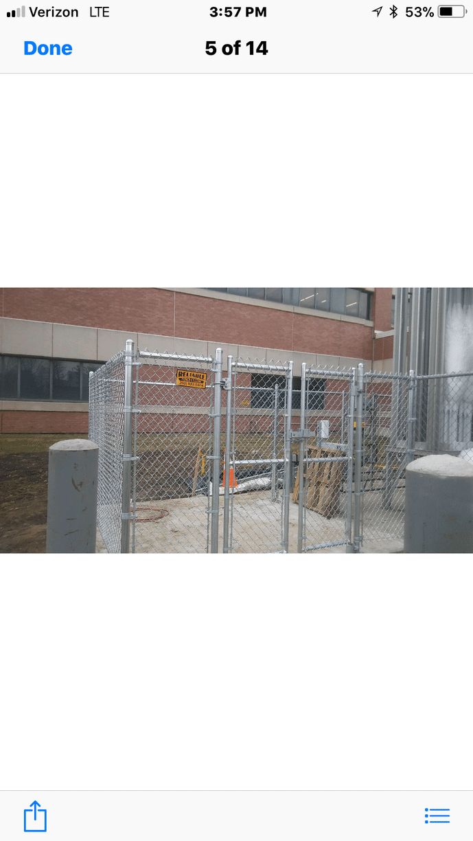 Chain Link Fence Enclosure