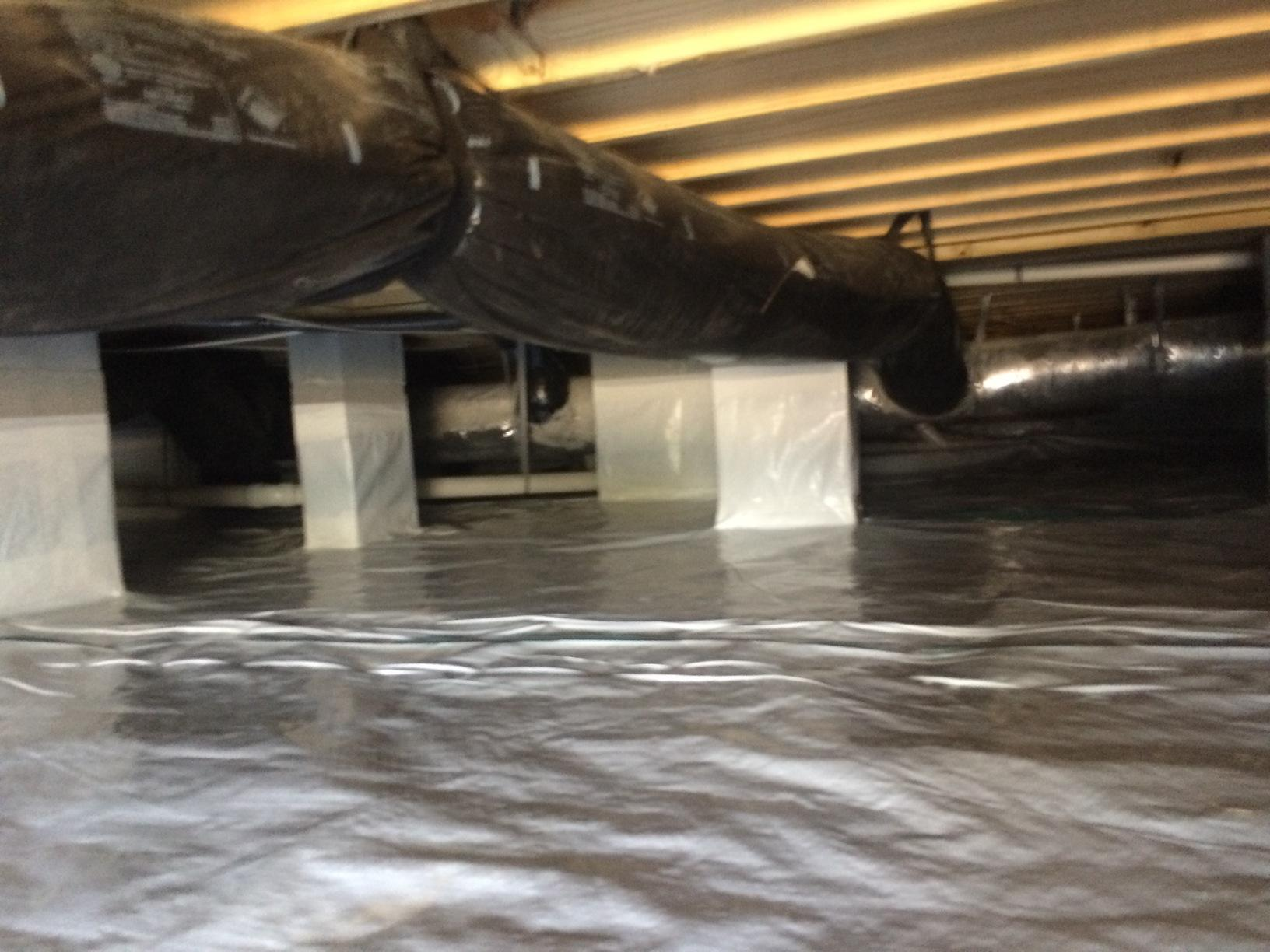 After Photo of the Encapsulated Crawlspace