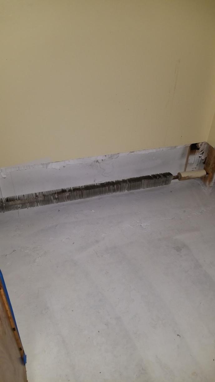 Flooring Removed & Walls cut.