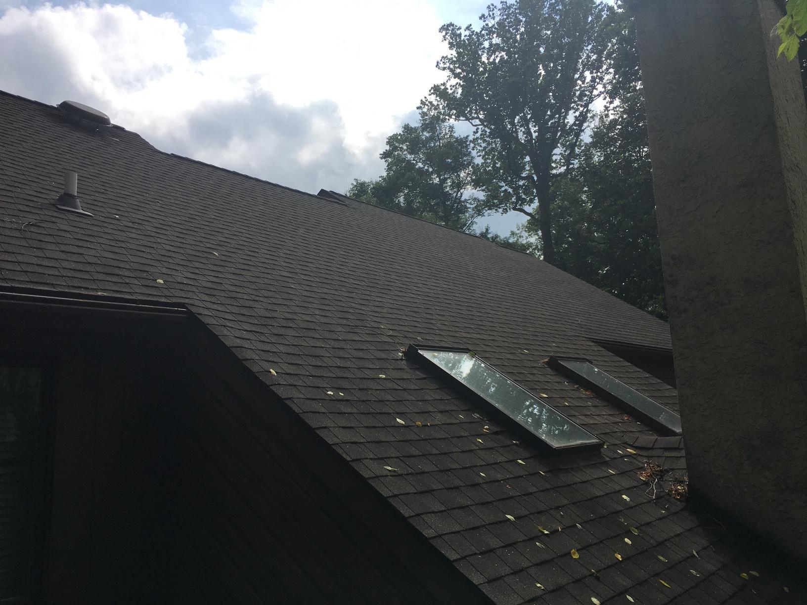 Working Around Skylights on Asphalt Roof