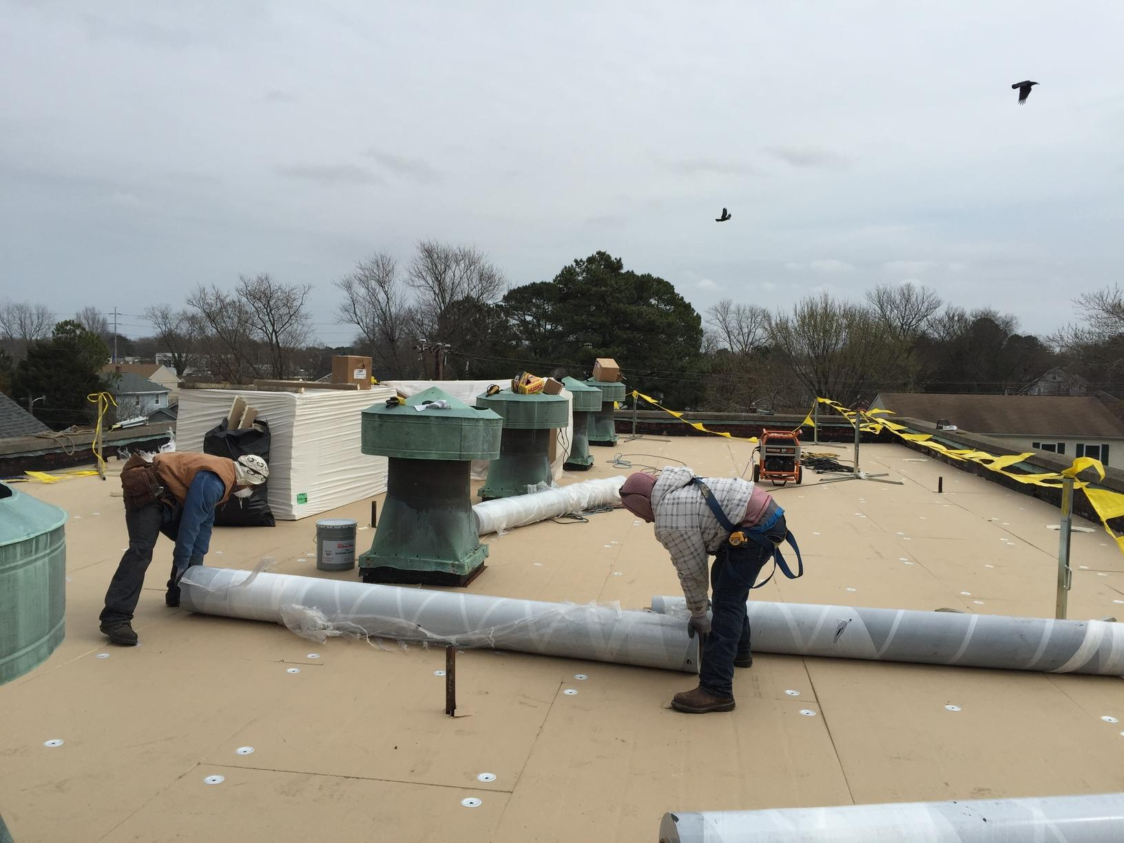 Roof Replacement Commercial Tpo Roof In Norfolk Va