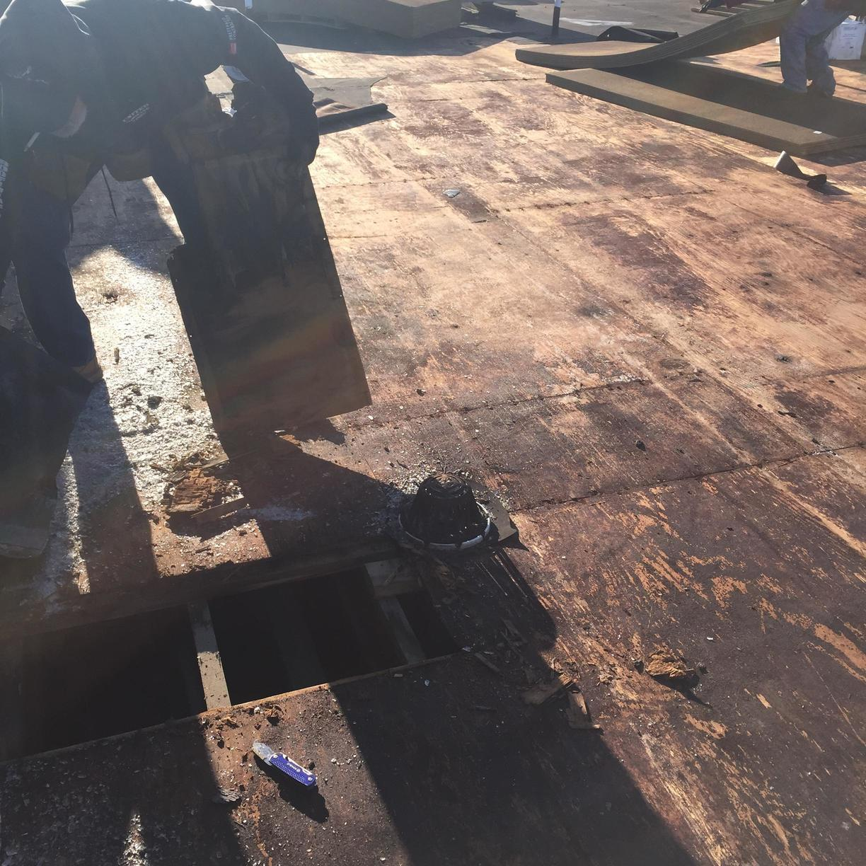 Prepping for TPO Roofing Installation