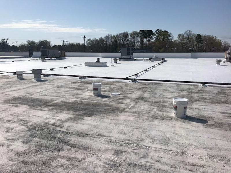 Roof Coating Process