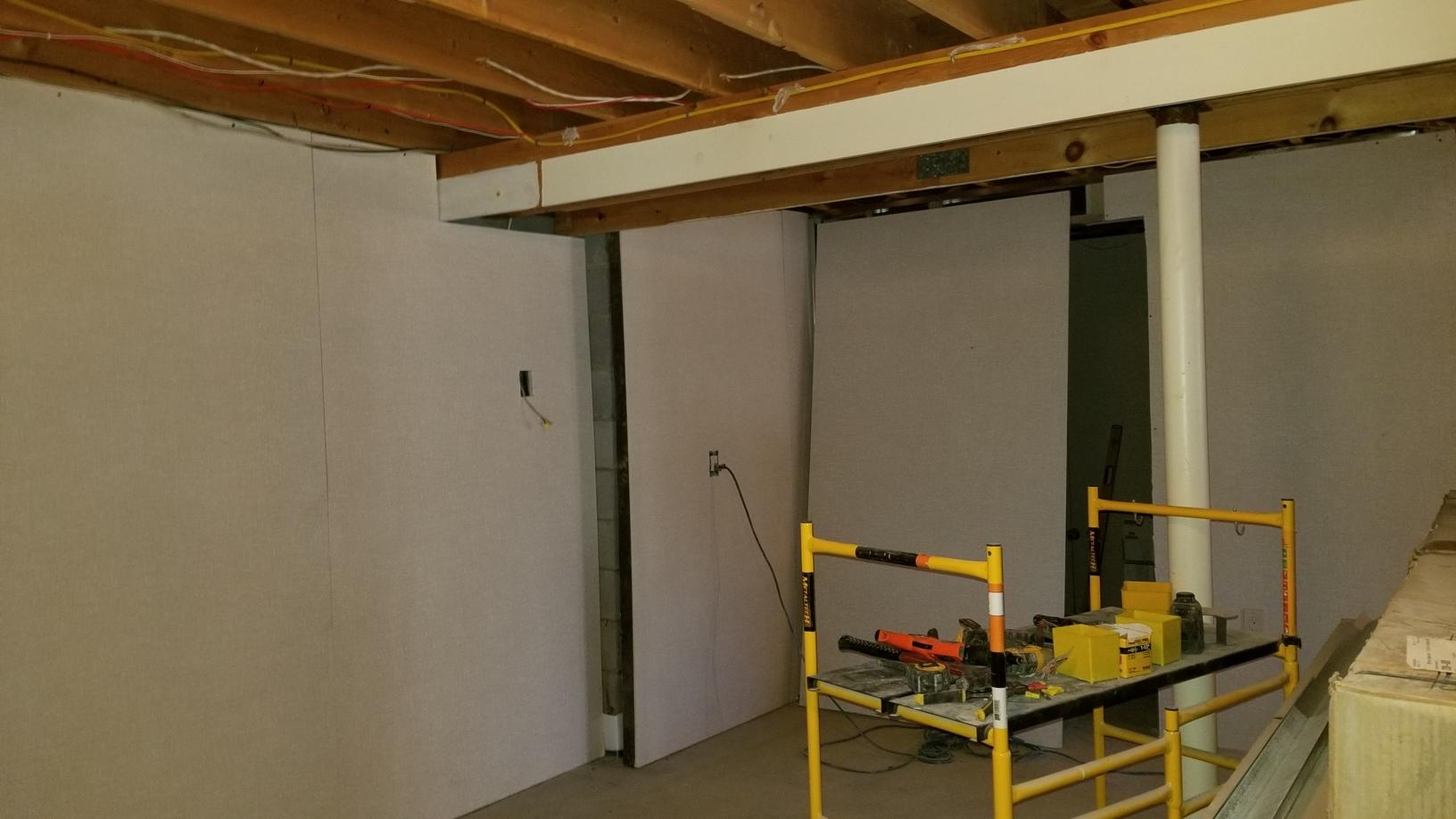 Everlast Walls during process