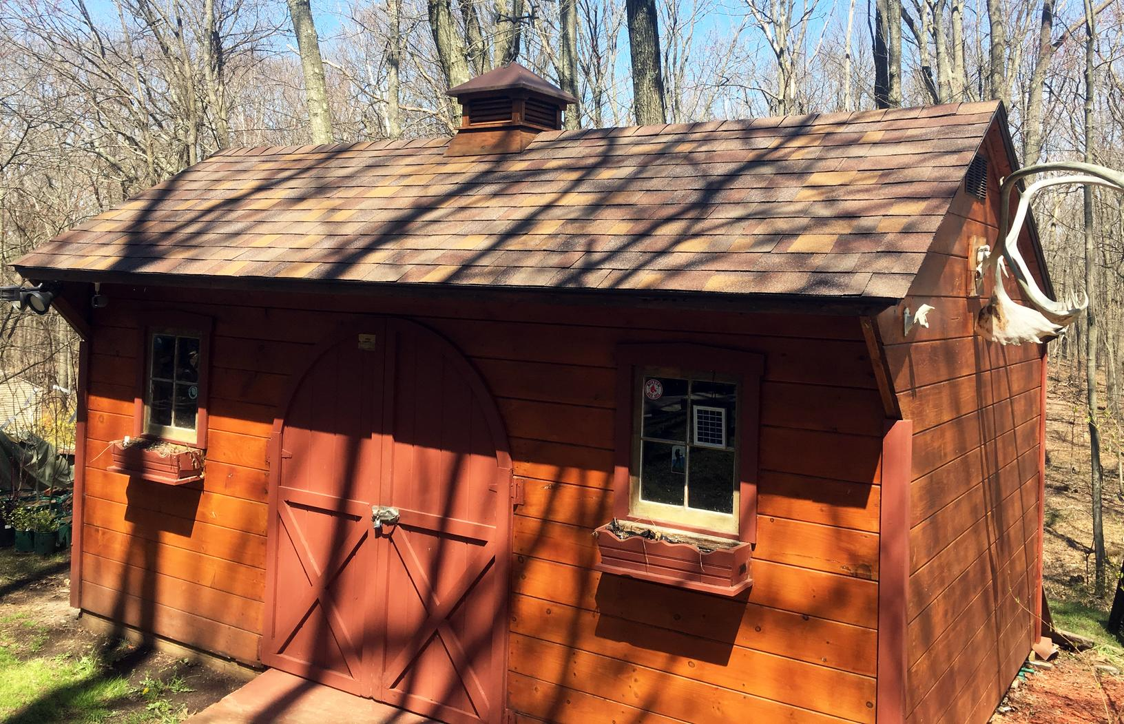 Roof Replacement on Shed in Bolton, CT