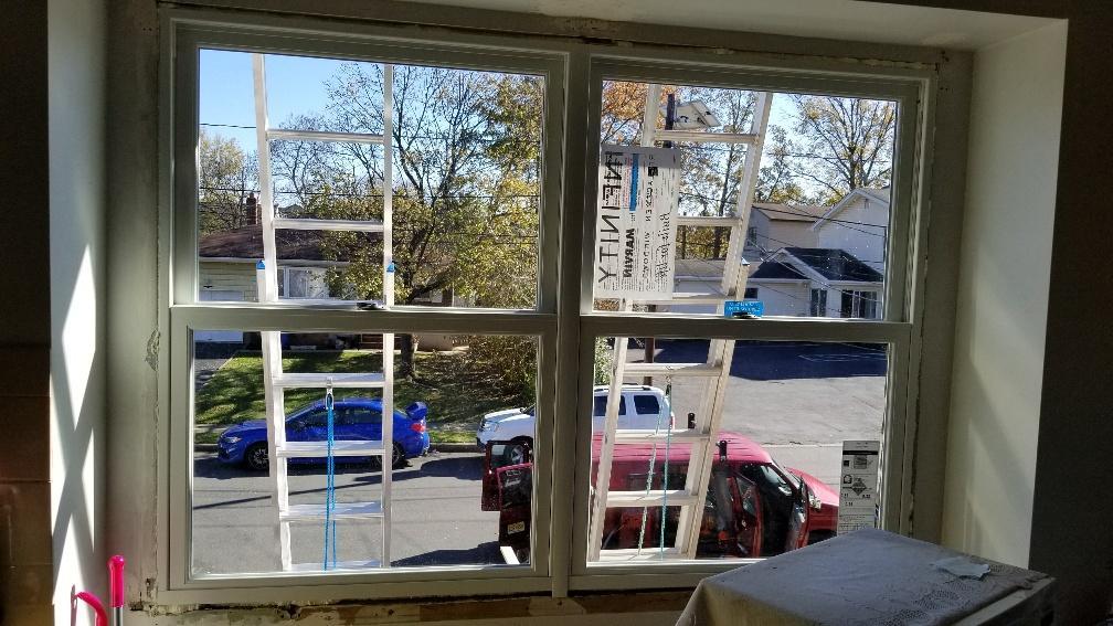 Marvin Infinity Double Hung Window Installation in Iselin, NJ