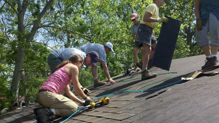 Installing a new roof!