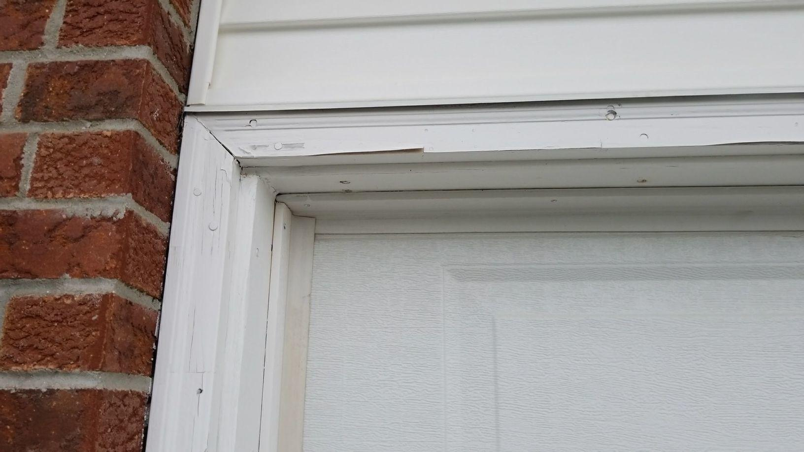 Siding Brick Moulding Replacement In Byron Il Garage Door
