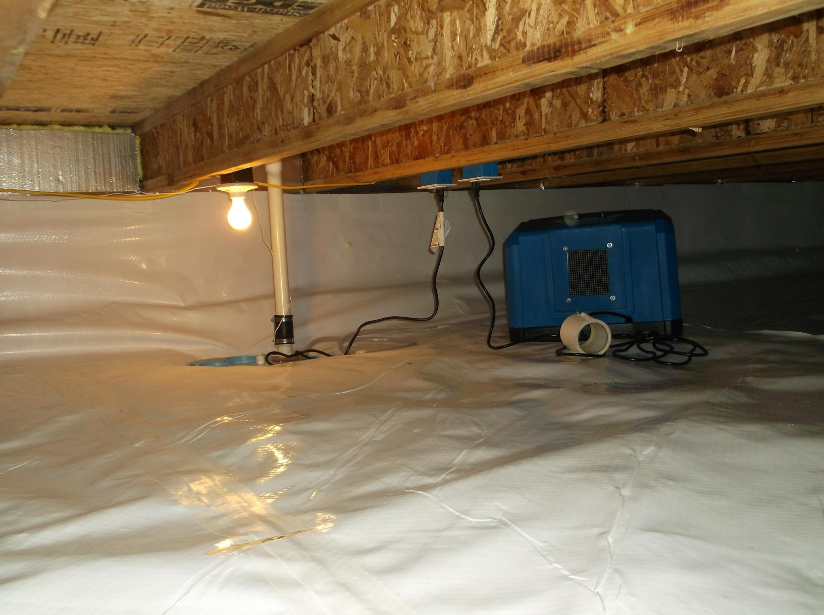 Sump pump and dehumidifier