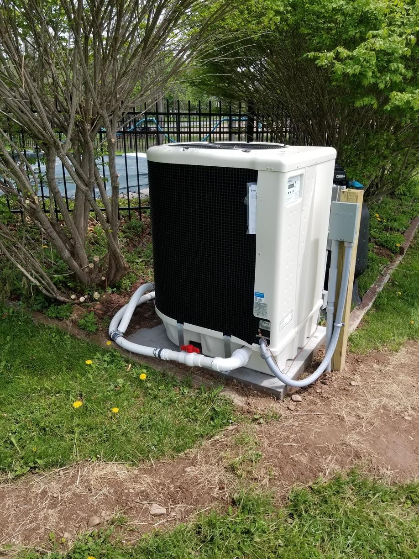 Pool heater install in the Newark, NY area