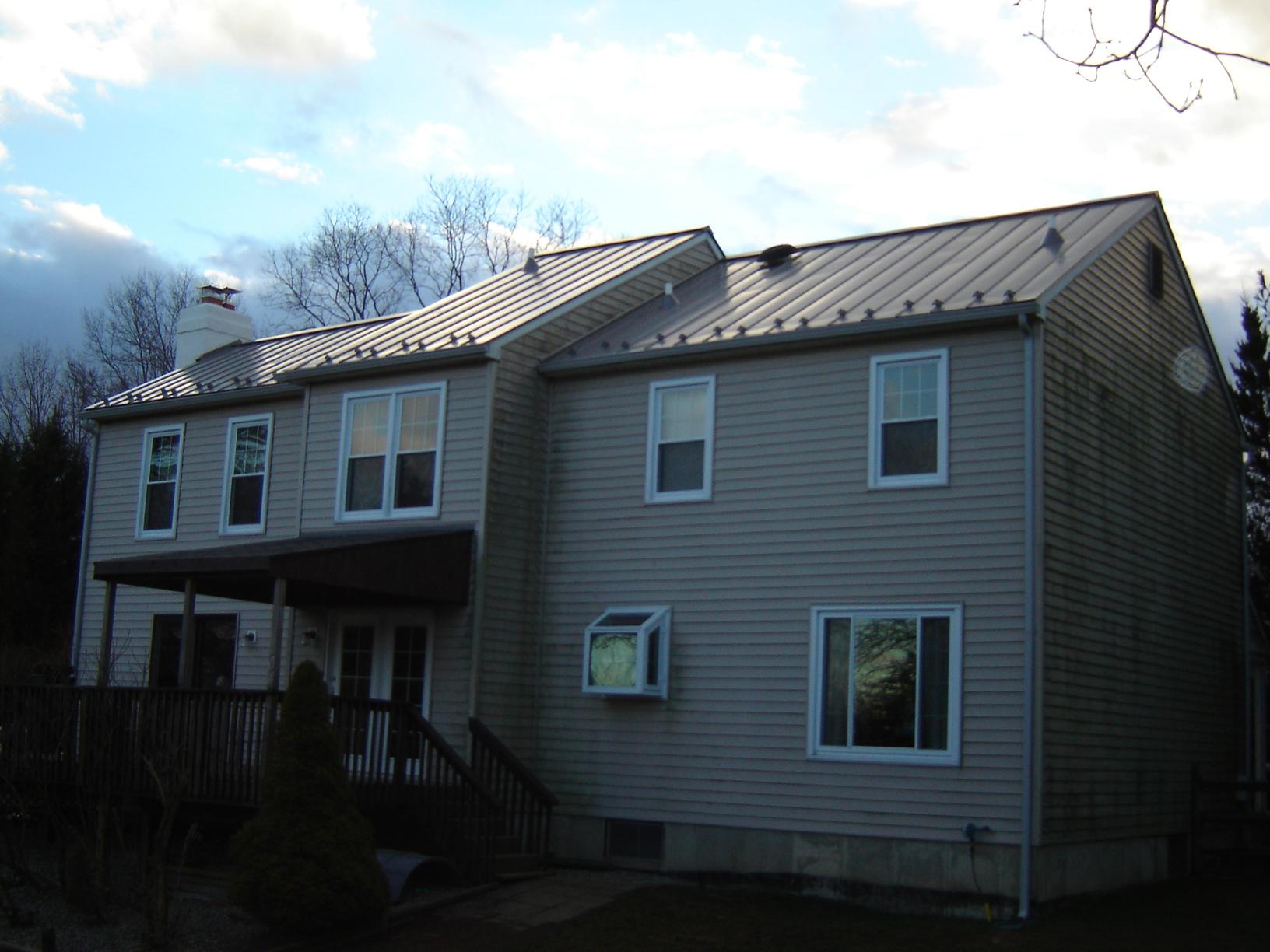 Back View of Standing Seam Metal Roof Installation in West Chester, PA