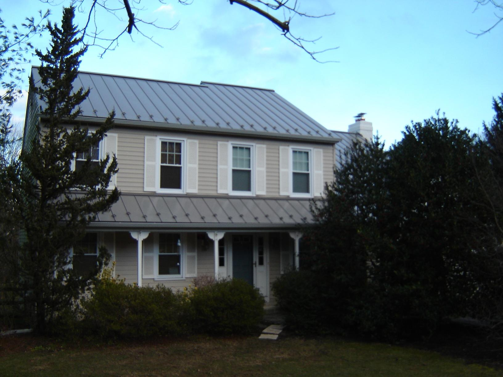 Slate Grey G-Tech Standing Seam Metal Roof Installation in West Chester, PA