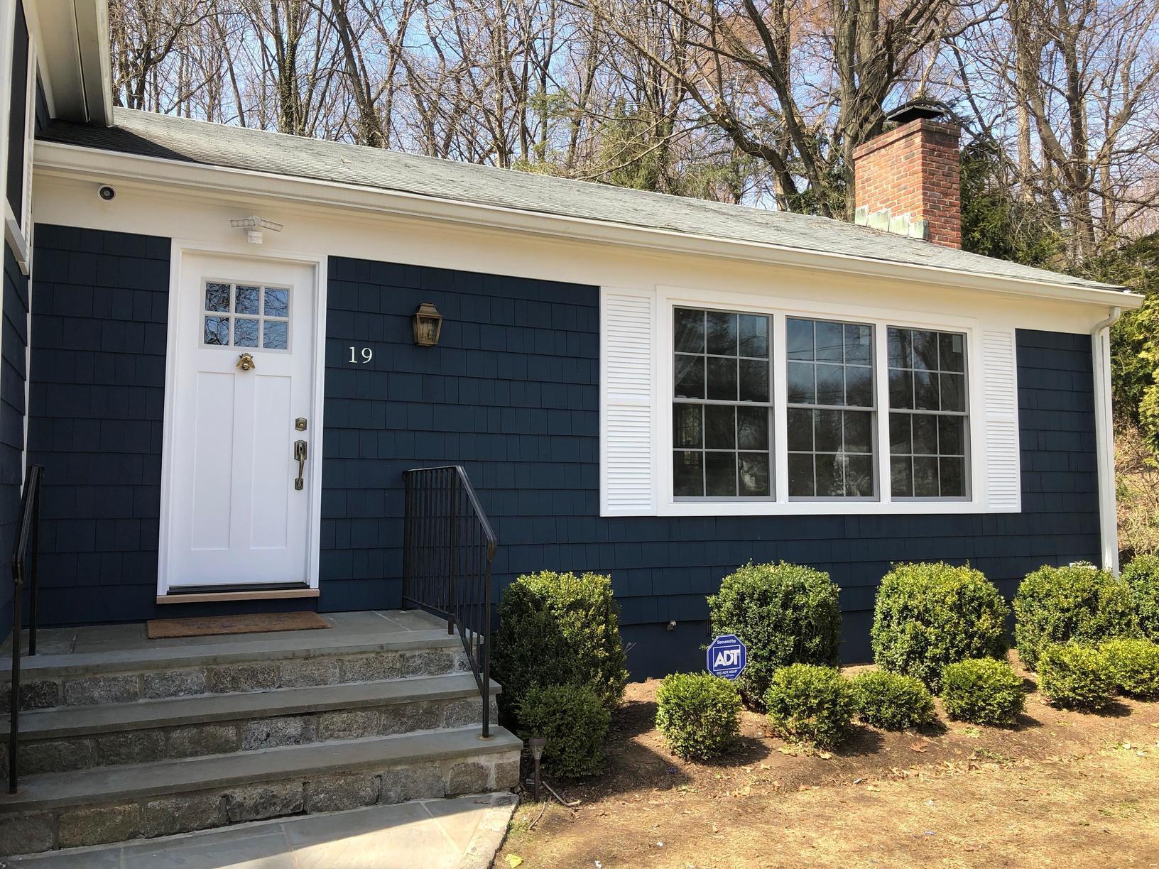 New Windows, Maibec Cedar Siding & Azek Trim - Greenwich, CT