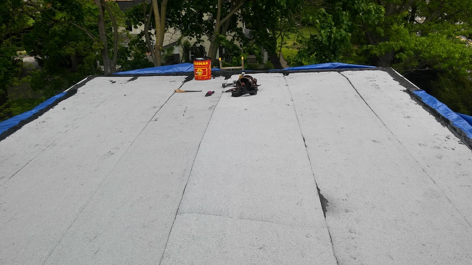 Before Photo of Standing Seam Metal Roof Installation