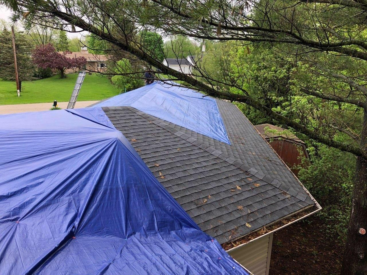 Roof Repair Hail Damage In Antioch Il Tarping